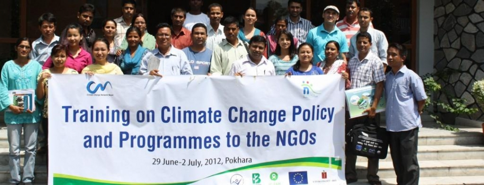 Training on Climate Change Policy and Programmes to the NGOs 29 June - 2 July 2012, Pokhara, Nepal