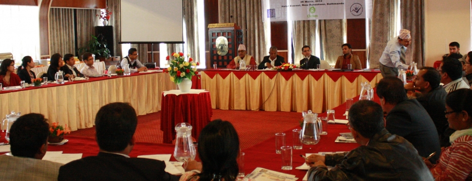 Round Table Discussion on Progress and Implementation Status of Climate Change Policy and Programmes in Nepal