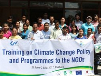 Training on Climate Change Policy and Programmes to the NGOs
