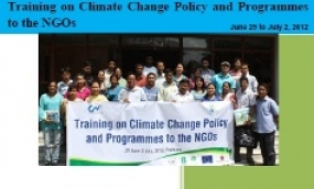Proceeding: Training on Climate Change Policy and Programmes to the NGOs